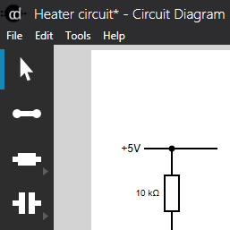 The new user interface for Circuit Diagram