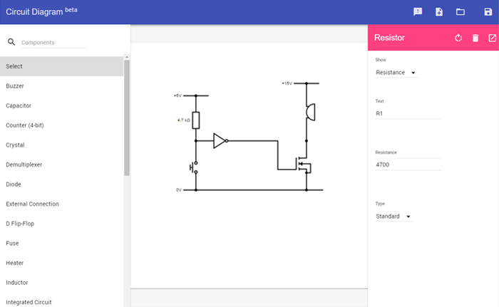 Circuit Diagram Web Editor